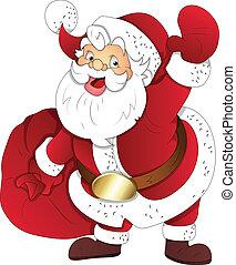 Santa Claus Weihnachtsvektor