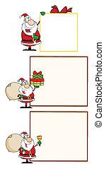 Santa Claus winkt mit einem Gruß