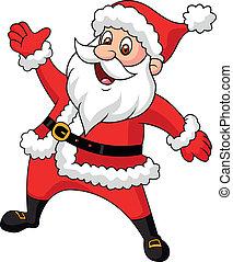 Santa-Klausel-Zeichentrickfilm-Handwinkel