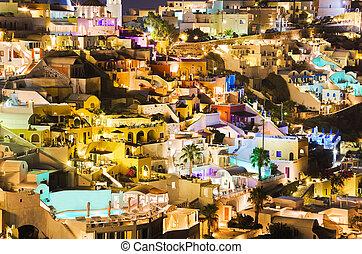 Santorini-Abend