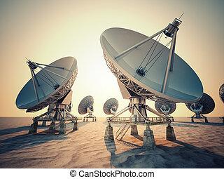 satellit, dish.
