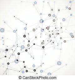 satz, abstrakt, molekül, vektor, hintergrund, weißes