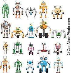 satz, collaborative, roboter, modular, android, maschinen