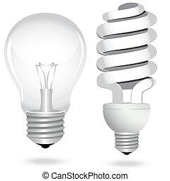 satz, einsparung, elektrizität, licht, energie, lampe, zwiebel