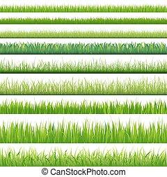 satz, groß, gräser