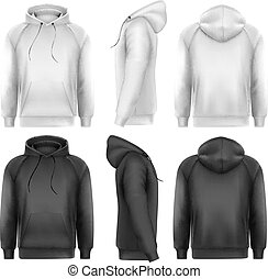 satz, hoodies, text, space., probe, vect, schwarz, weißer mann