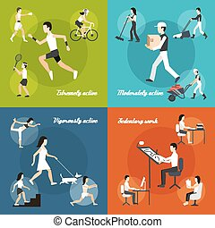 satz, körperliche aktivität