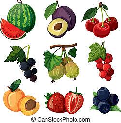 satz, köstlich , berries.