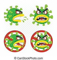 satz, karikatur, abbildung, coronavirus