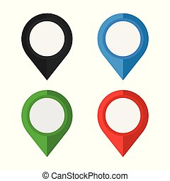 satz, ort, weißes, landkarte, hintergrund., hell, freigestellt, heiligenbilder, pointers.