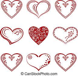 satz, piktogramm, herz, valentine
