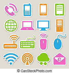 satz, vernetzung, beweglich, vorrichtungen & hilfsmittel, edv, connections., ikone