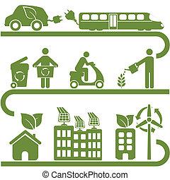 Saubere Energie und grüne Umwelt