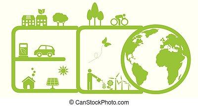 Saubere Umwelt und Umwelt.