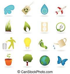 Saubere Umweltsymbole