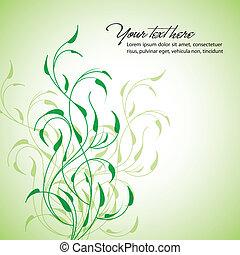 Sauberer Blumenvektor-Hintergrund