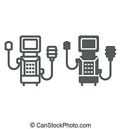 sauerstoff, atmen, linie, linear, hintergrund, glyph, ikone, ikone, vektor, eps, 10., medizin, grafik, weißes, gesundheit, zeichen, ventilator