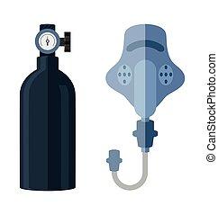 Sauerstoffflasche.