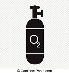 Sauerstoffzylinder-Ikone.