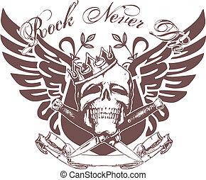Schädel-Emblem