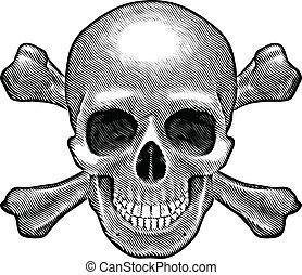 Schädel und Kreuzknochen