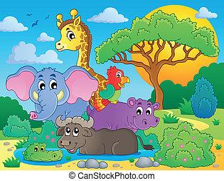 Schöne afrikanische Tiere Thema Bild 8.
