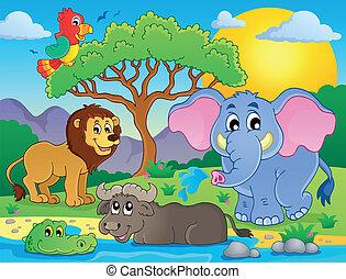 Schöne afrikanische Tiere Thema Bild 9.