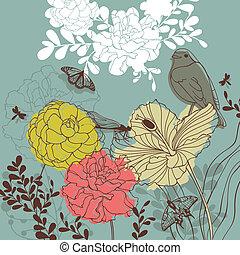 Schöne Blumenkarte.