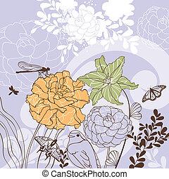 Schöne Blumenkarte