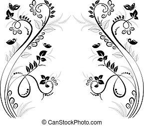Schöne Blumenrahmen für Ihr Design.