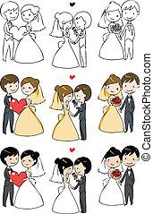 Schöne Braut und Bräutigam.