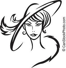 Schöne Frau mit Hut