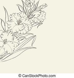 Schöne frische Iris-Blumen.