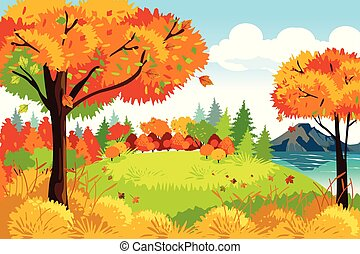 Schöne Herbst- oder Herbstsaison Naturlandschaft Hintergrundbild