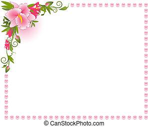 Schöne Orchidee im Hintergrund