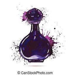 Schöne Parfümflasche.