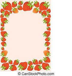 Schöne saftige Erdbeere.