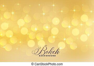 Schöne Seelichter in goldener Farbe mit Sternen.