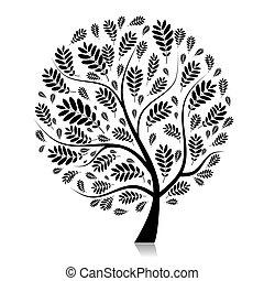Schöner Herbstbaum für dein Design