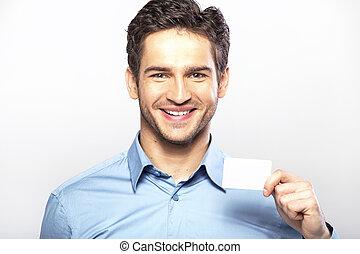 Schöner Kerl mit Visitenkarte.