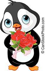 Schöner Valentinstag Pinguin.