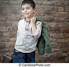 Schönes Bild von Geschäftsmann Kind.