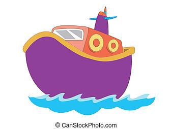 Schönes Boot für Kinder in Vektorgrafik.