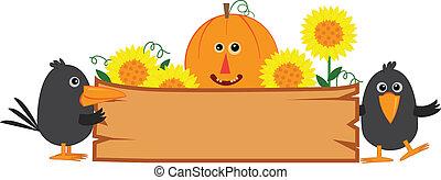 Schönes Herbstzeichen