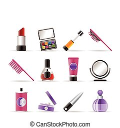 Schönheit, Kosmetik und Make-up-Ikonen