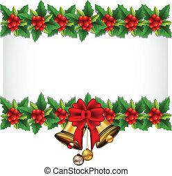 Schönheits-Holly-Weihnachtsrahmen