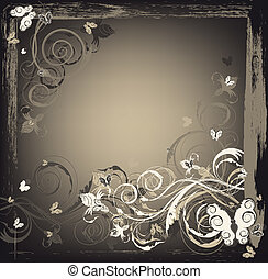 Schönheitsfloral Grunge-Hintergrund