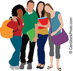 Schüler illustrieren