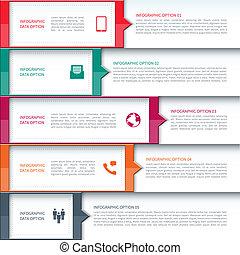 schablone, modernes geschäft, infographics