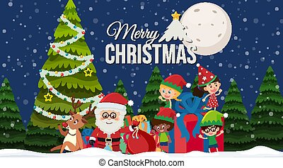 schablone, umrandungen, thema, hintergrund, weihnachten